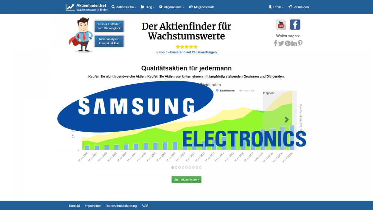 Aktienfinder Samsung Electronics