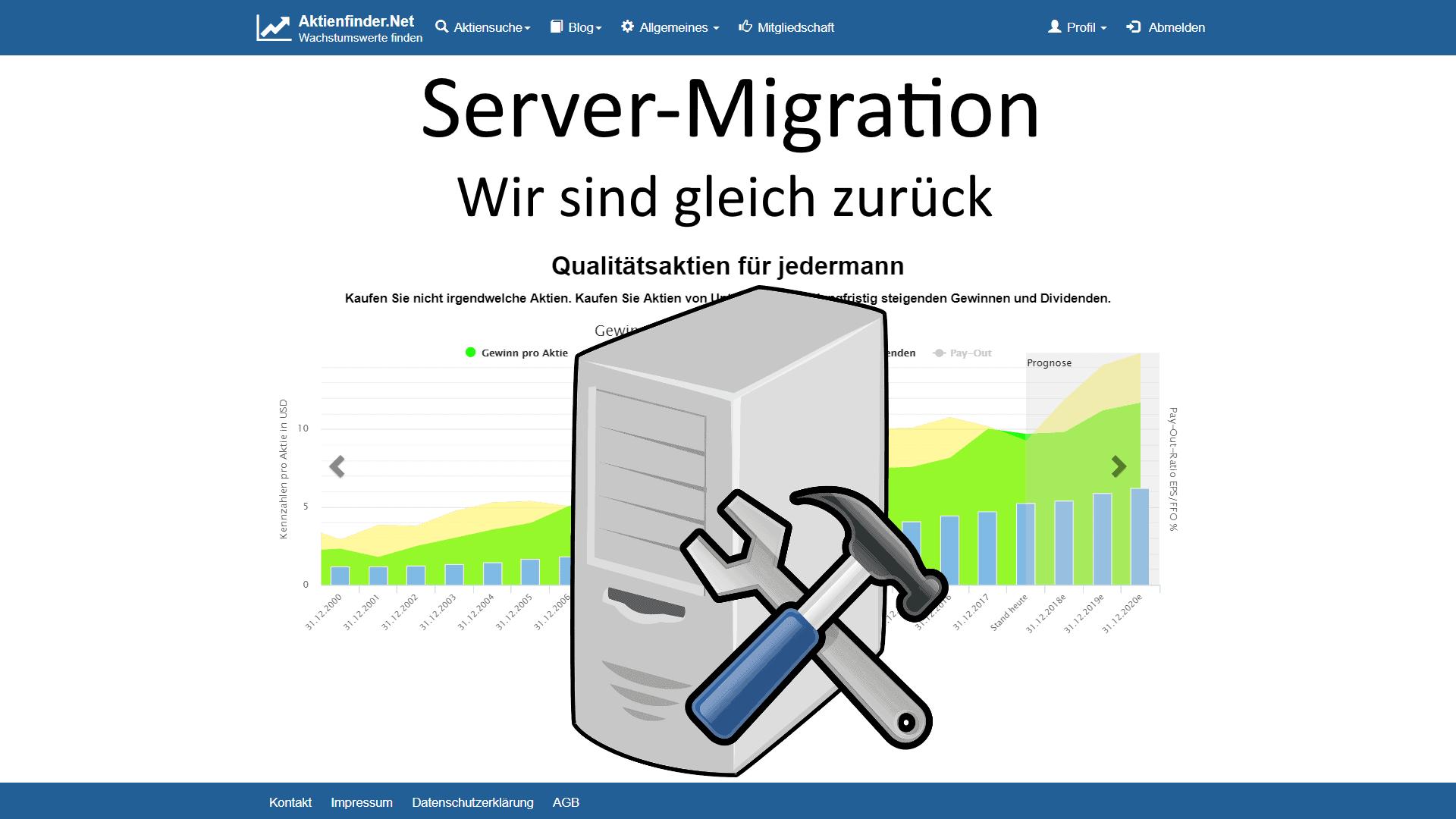 Server Migration erfolgreich verlaufen