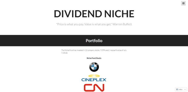 Finanzblogger Dividend Niche