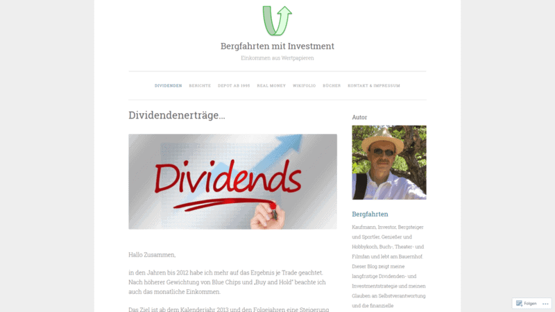 Bergfahrten Dividenden Finanzblogger