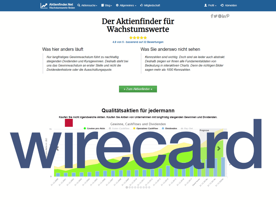 Aktienfinder Wirecard Aktie