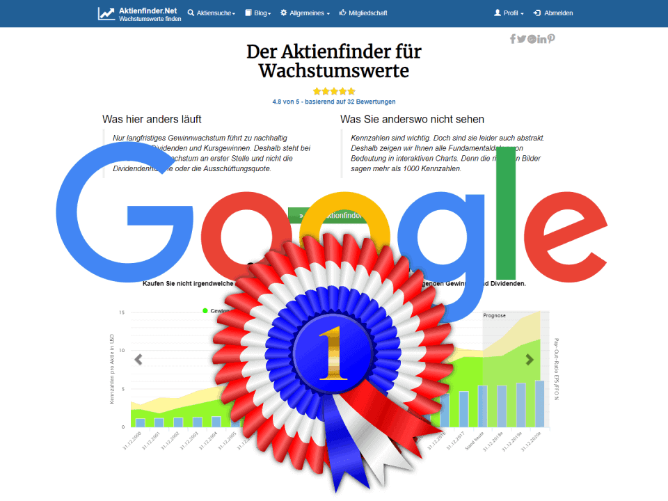 Google liebt den Aktienfinder