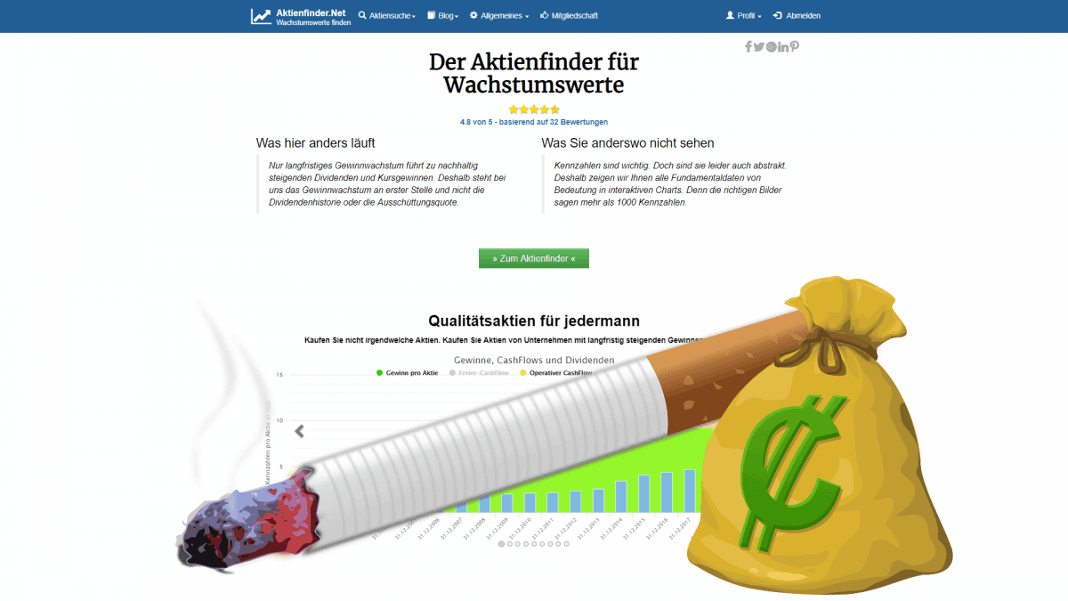 Tabak Dividenden-Aktien