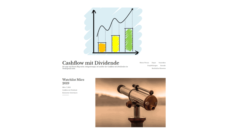 Cashflow mit Dividende