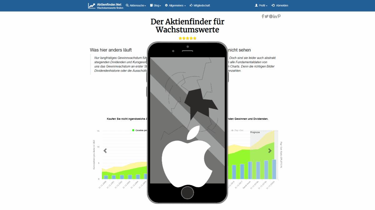 Apple Aktie Bruchlandung voraus