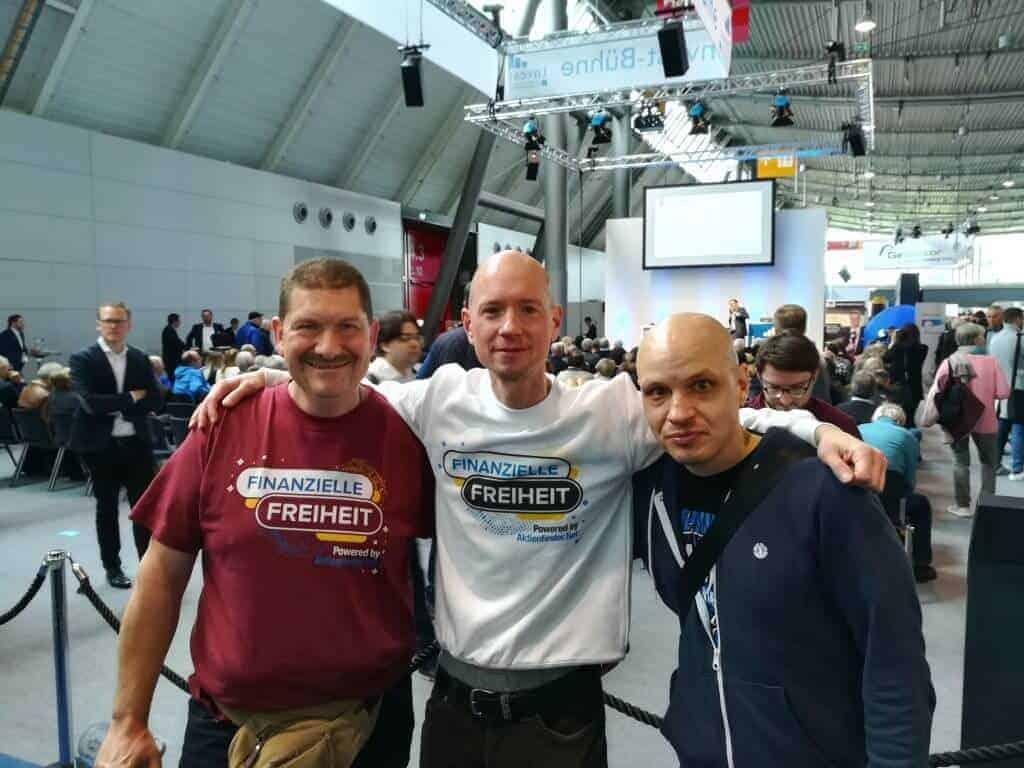 Invest Stuttgart 2019 - Aktienfinder-Crew mit Michael