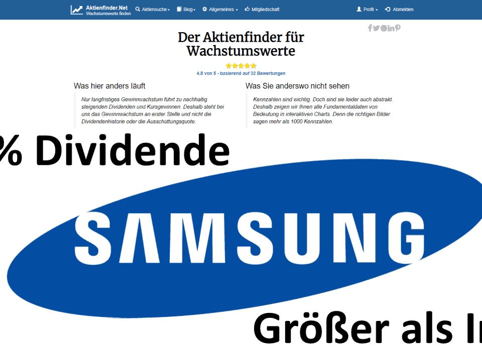 Aktienfinder Samsung Electronics Aktie
