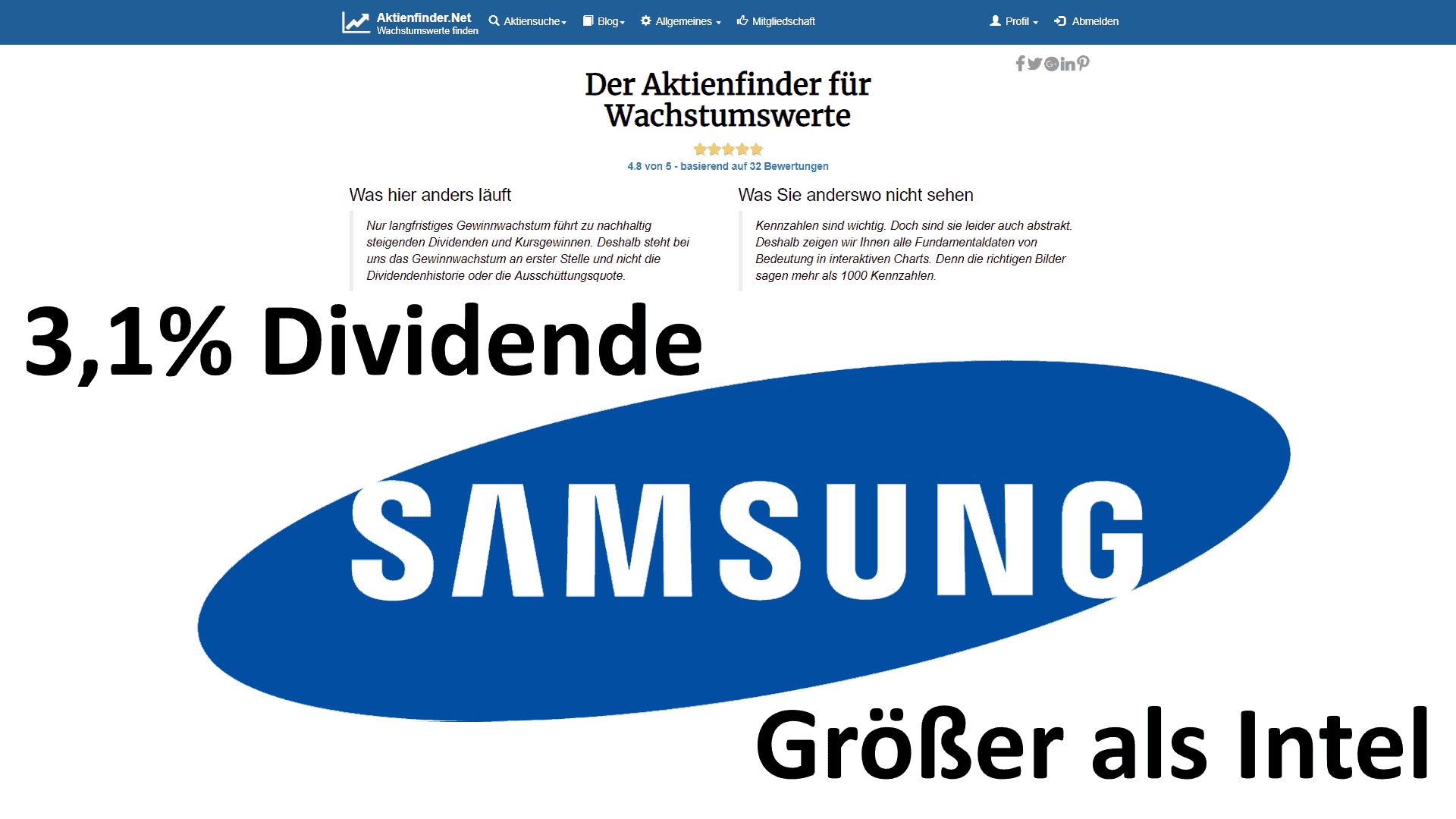 Samsung: Techgigant mit 3,1% Dividende zum Schnäppchenpreis?
