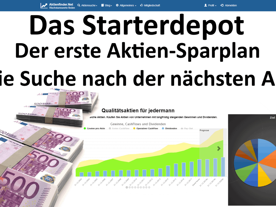 Das Starterdepot 3 - Der erste Aktien-Sparplan