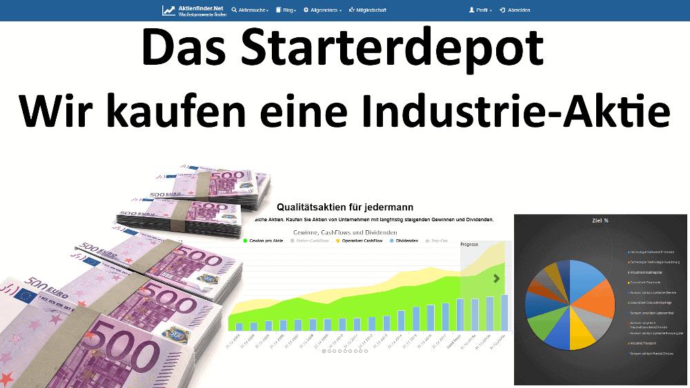 Wir kaufen eine Industrie-Aktie