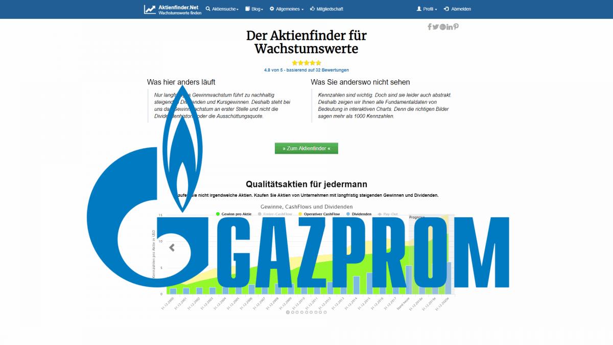 Aktienfinder Gazprom Aktie