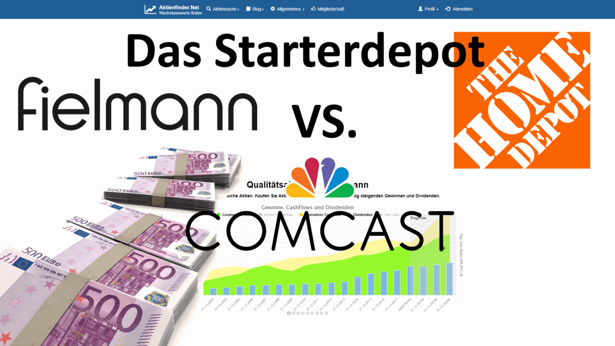 Aktienfinder - Das Starterdepot - Comcast vs Fielmann vs Home Depot
