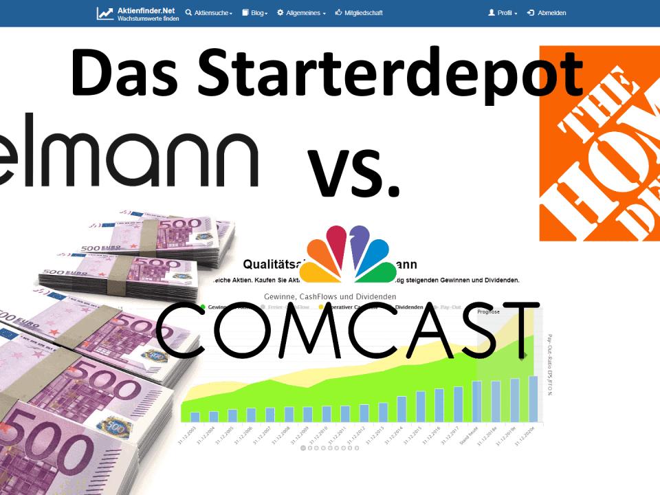 Aktienfinder - Das Starterdepot - Comcast vs Fielmann vs Home Depot