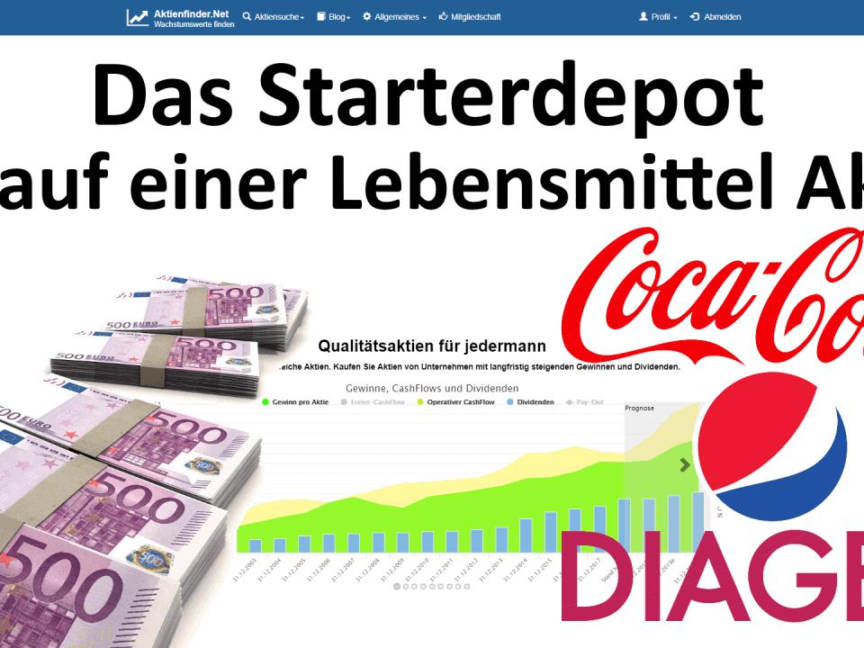 Aktienfinder - Das Starterdepot - Kauf einer Lebensmittel Aktie