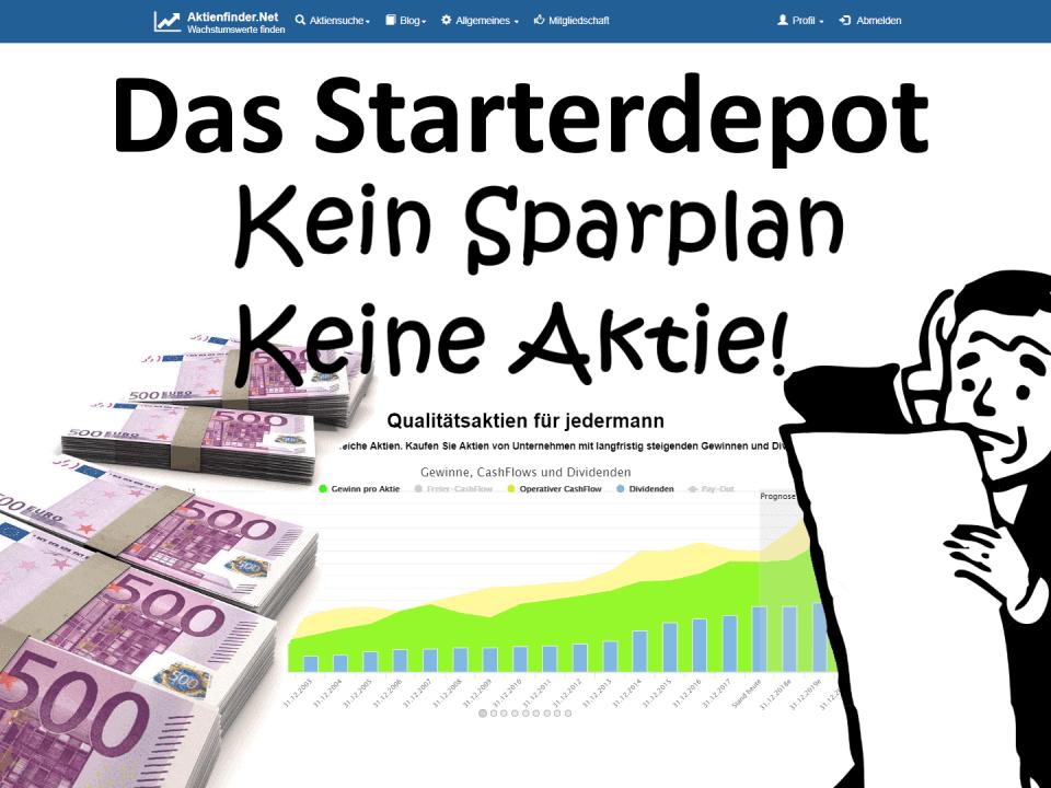 Aktienfinder - Das Starterdepot - Kein Sparplan, Keine Aktie