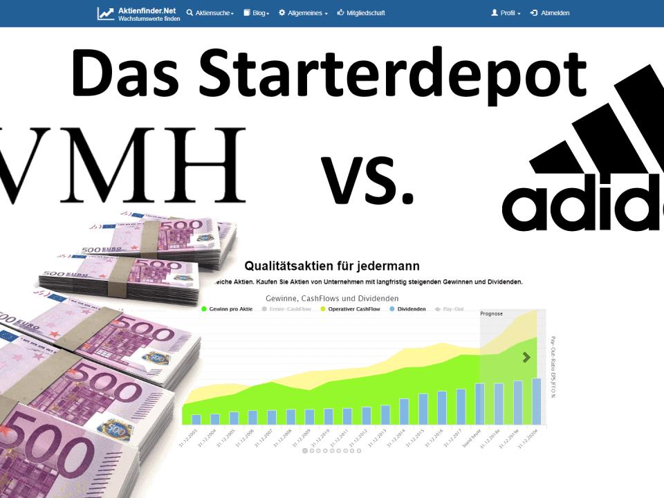 Das Starterdepot - LVMH und Adidas Aktienalysen
