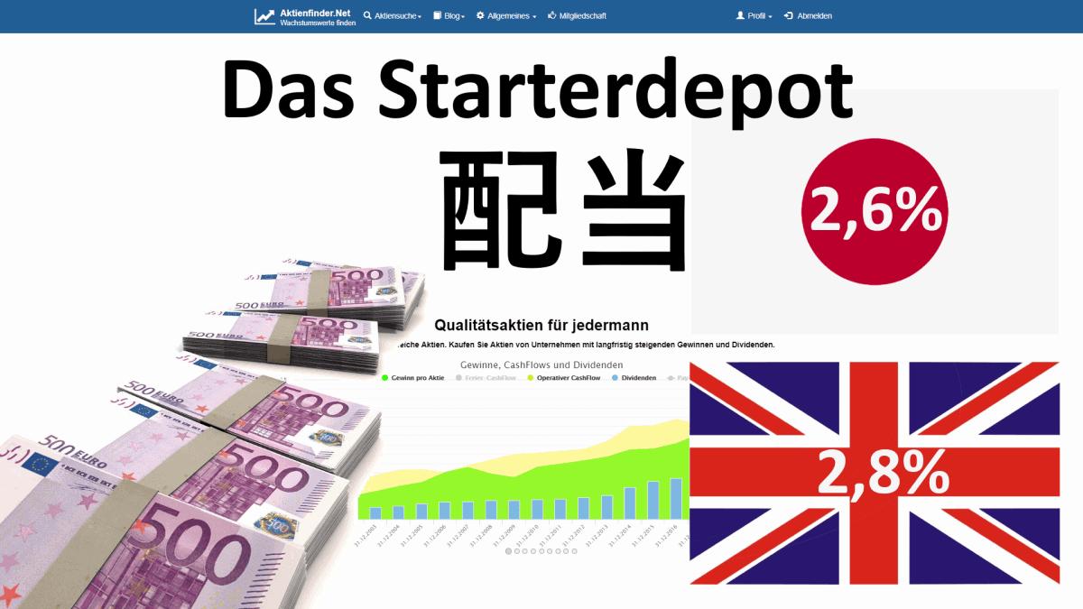 Das Starterdepot - Japanische und englische Dividendenaktien