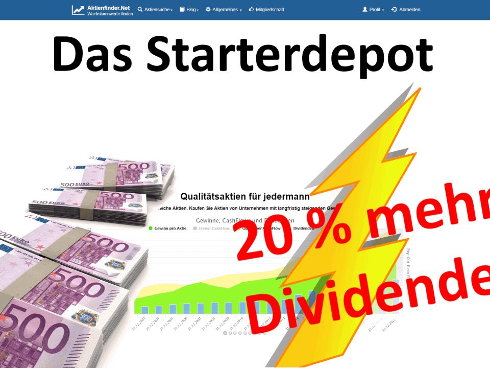 Das Starterdepot - Weltmarktführer vs 20 Prozent Dividendenwachstum