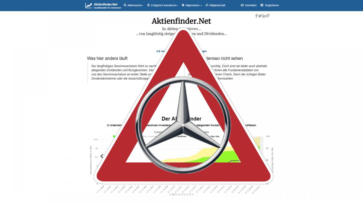 Daimler Aktie - Underperformance mit Ansage