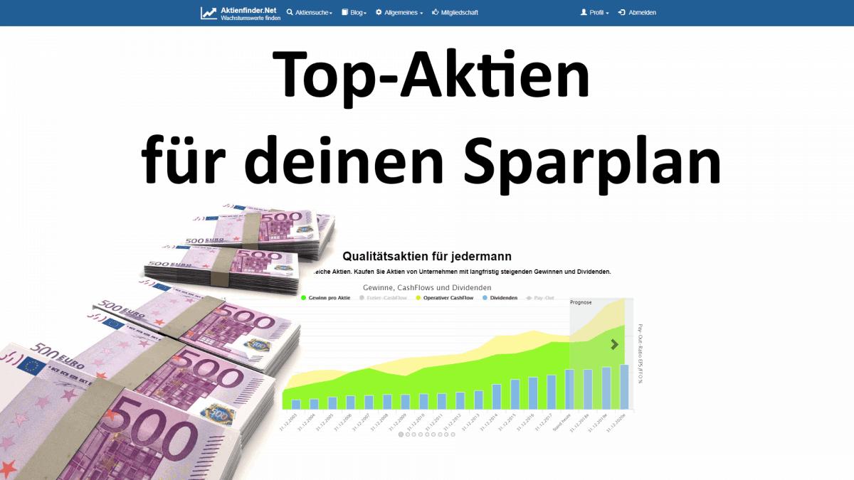 Top Aktien für deinen Sparplan