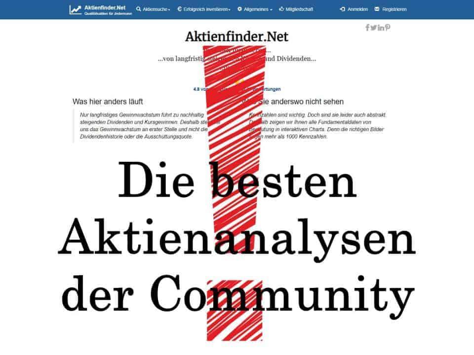 Qualitativ hochwertige Aktienanalysen der Finanzcommunity