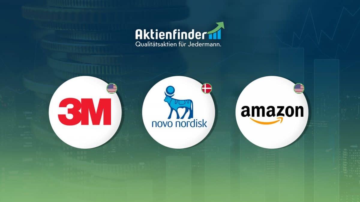 Dividenden Aktien mit Rabatt - 3M - Novo Nordisk - Amazon