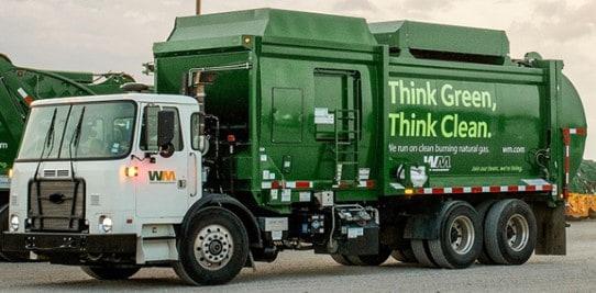 Müllwagen von Waste Management
