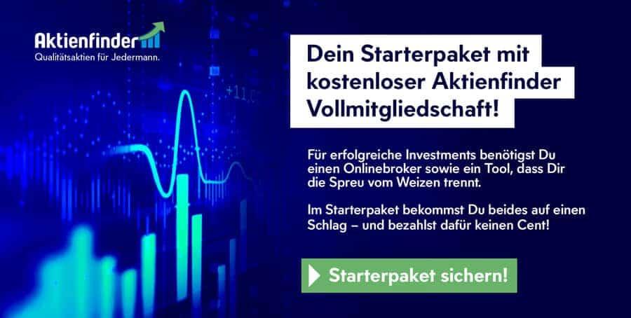 Dein Starterpaket mit Gratis-Aktienfinder-Vollmitgliedschaft