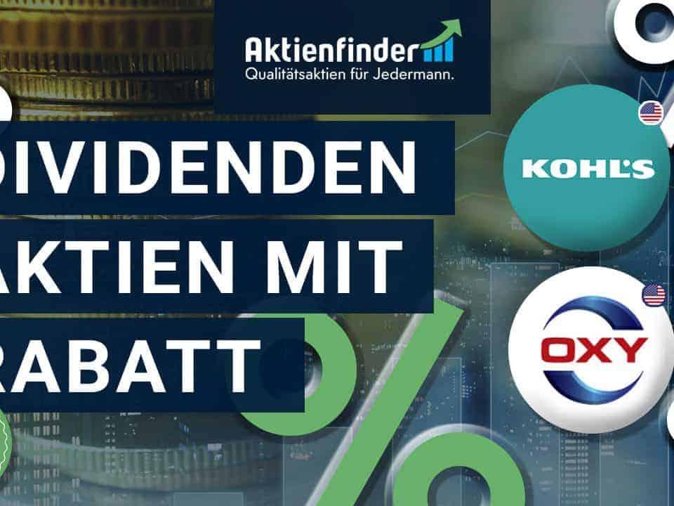 Dividenden Aktien mit Rabatt - Chancen im Börsencrash