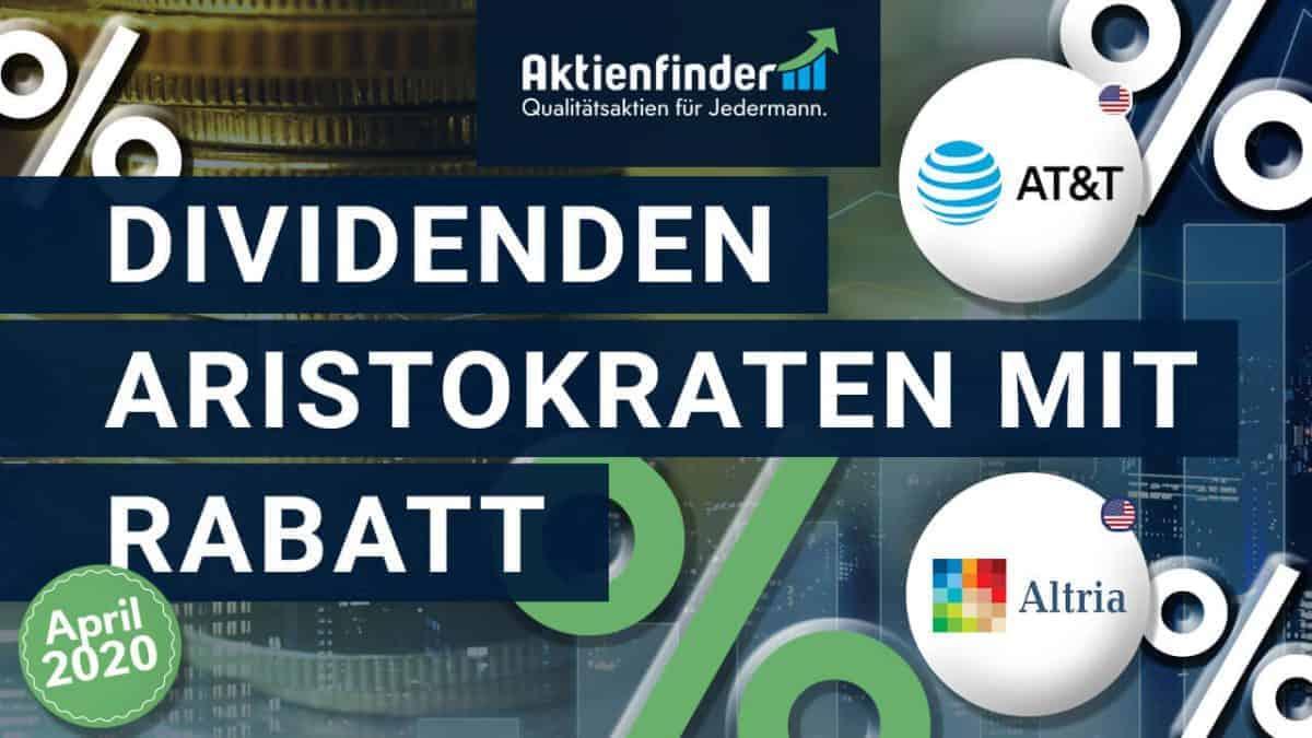 Dividenden-Aristokraten mit Rabatt Altria Aktie + AT&T