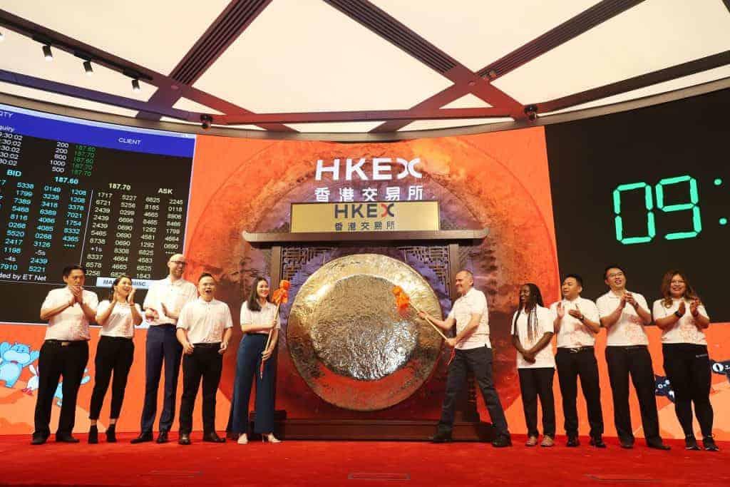 Der zweite Börsengang von Alibaba in Hong-Kong im November 2019
