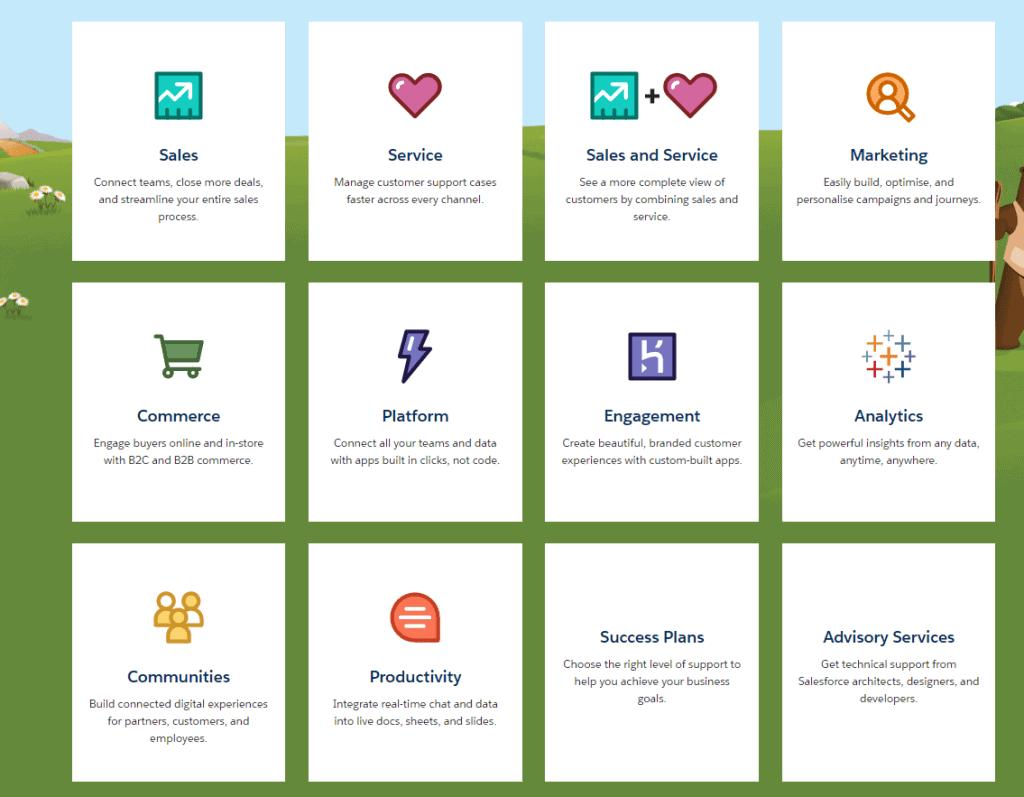 Die meisten Anwendungen von Salesforce laufen über die Customer 360 Platform