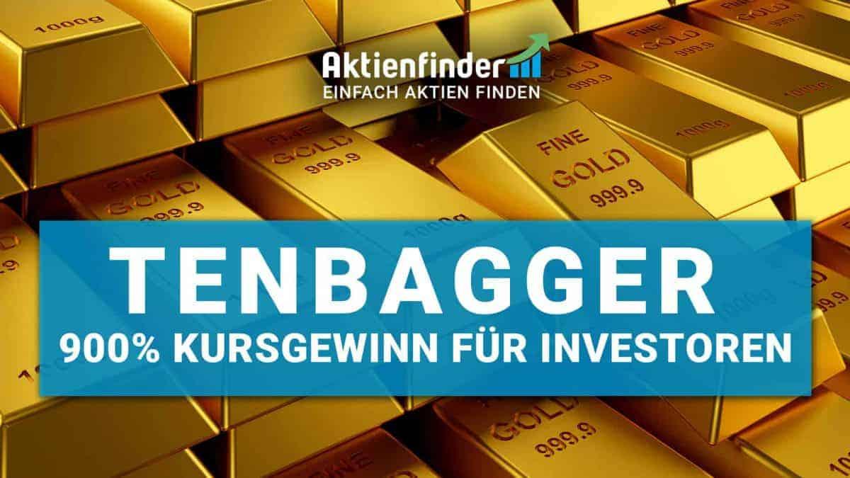 Tennbagger Aktien - 900 Prozent Kursgewinn für Investoren