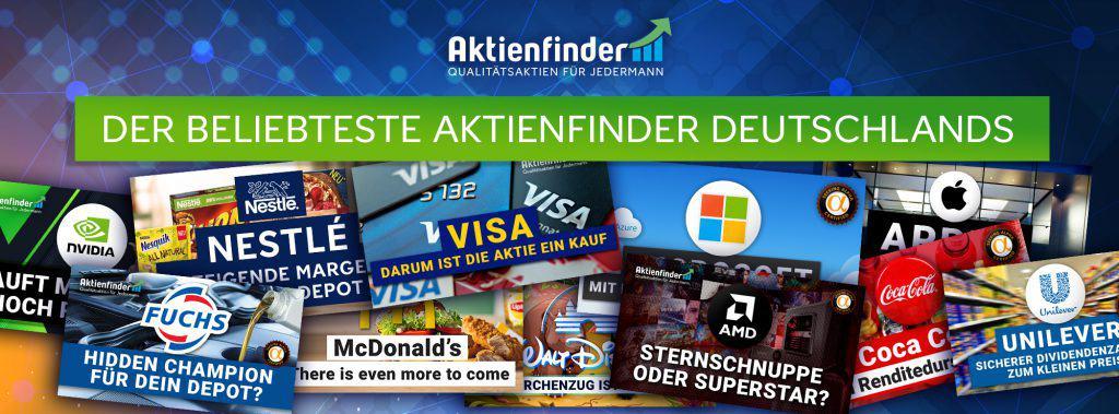 Der beliebteste Aktienfinder Deutschlands