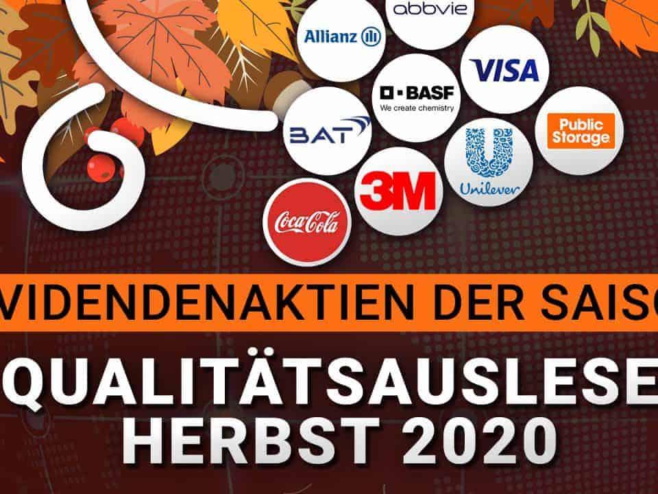 Die beliebtesten Dividenden-Aktien im Herbst 2020