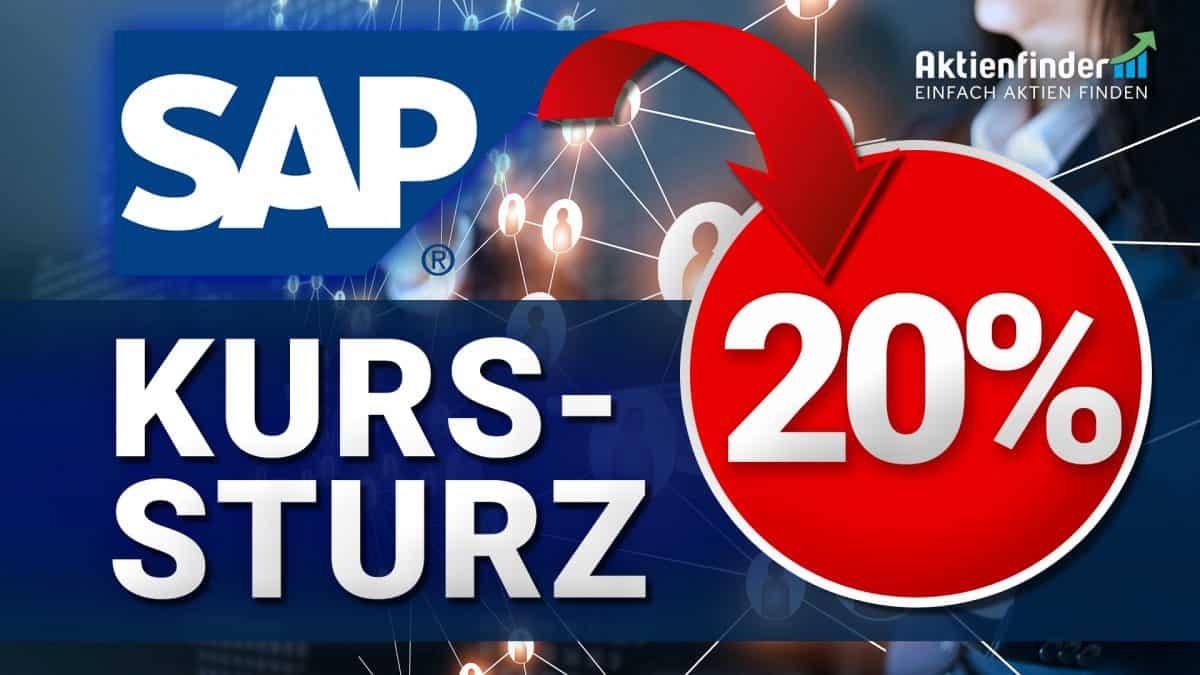 SAP Aktie - Kurssturz um 20 Prozent - Ist die Aktie ein Kauf
