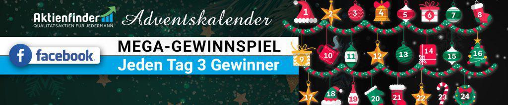 Adventskalender Aktienfinder Gewinnspiel Facebook