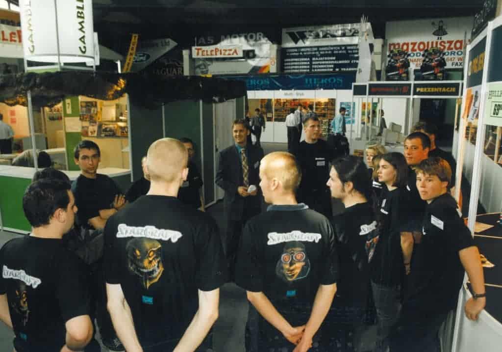 Foto aus den frühen Tagen von CD Projekt