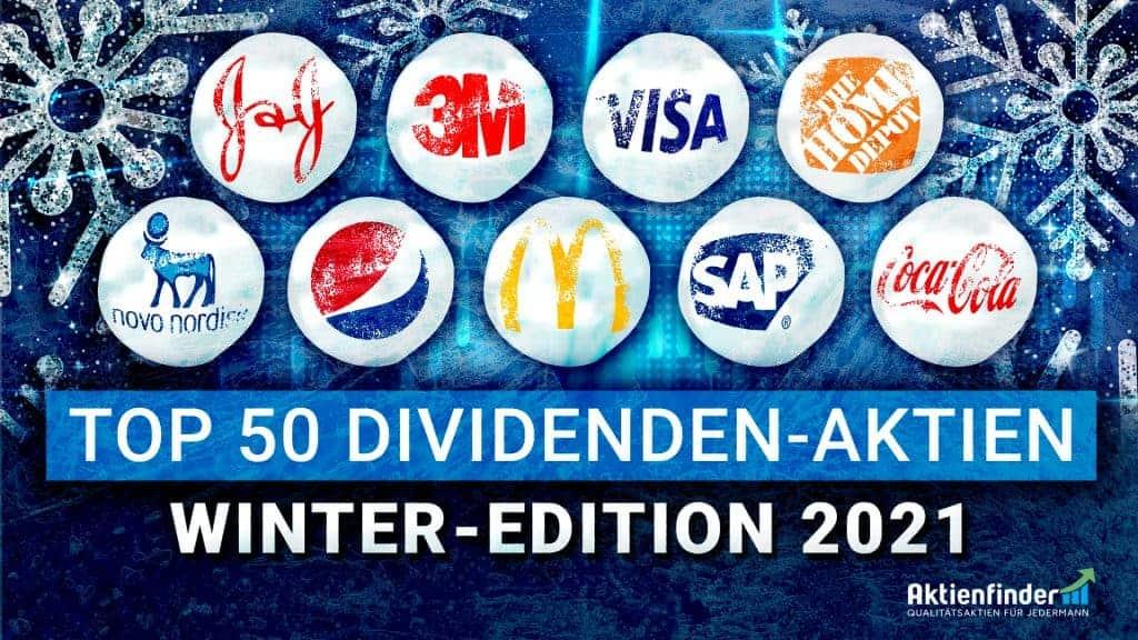 Top 50 Dividenden-Aktien Winter 2021