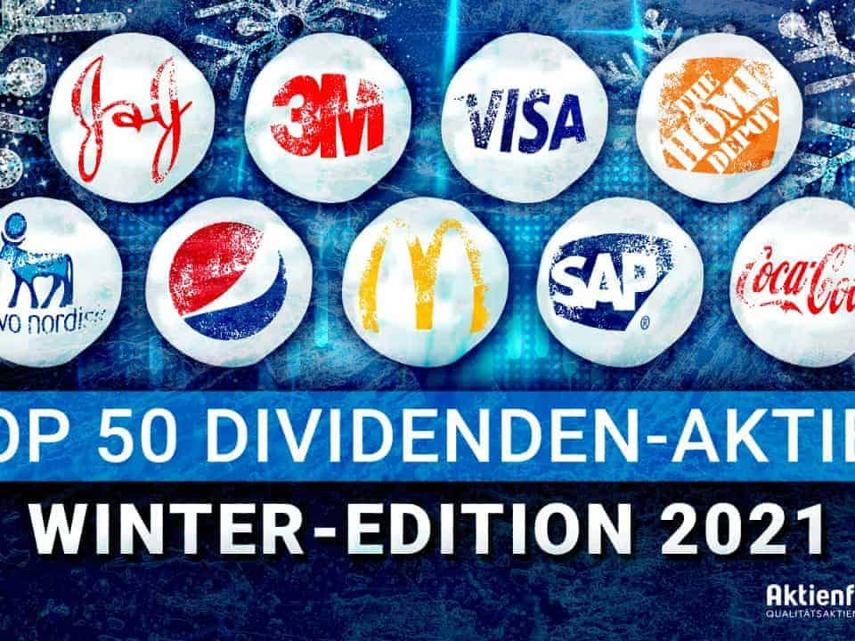 Top 50 Dividenden-Aktien Winter 2021