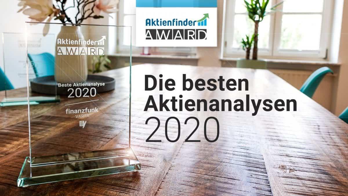 Der Aktienfinder Award fuer die beste Aktienanalyse 2020