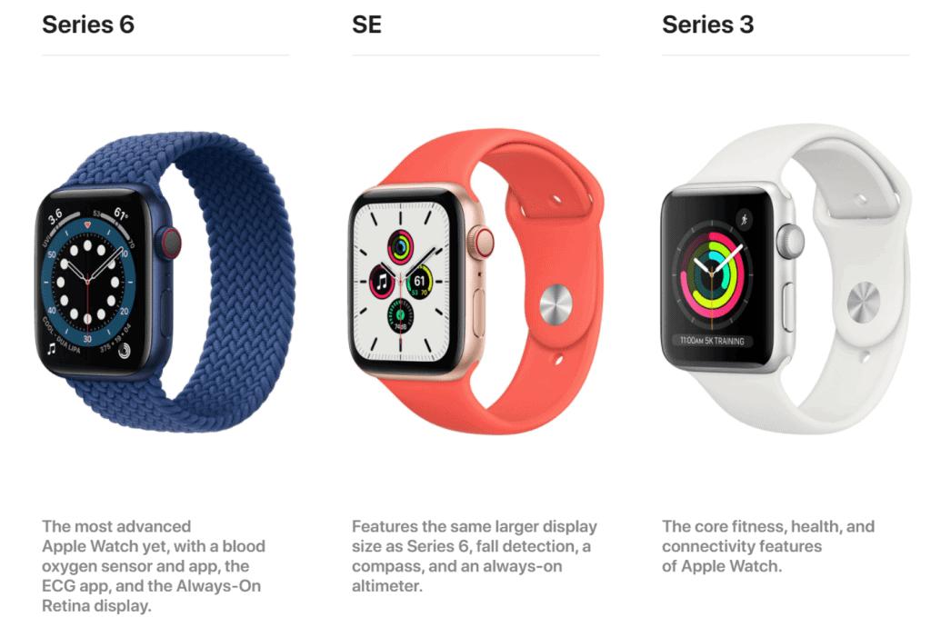 Die verschiedenen Apple Watch Modelle von Apple
