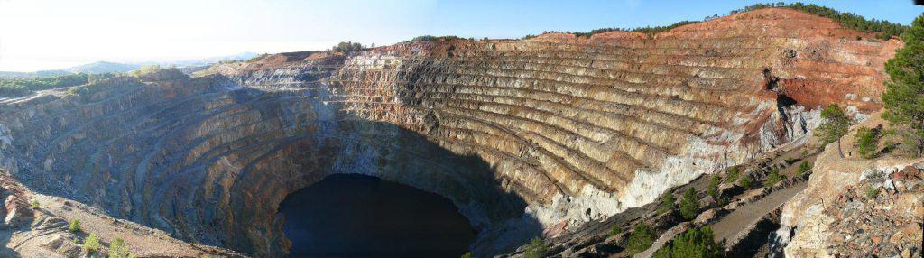 Ehemaliger Tagebau von Rio Tinto bei Corta Atalaya in Spanien