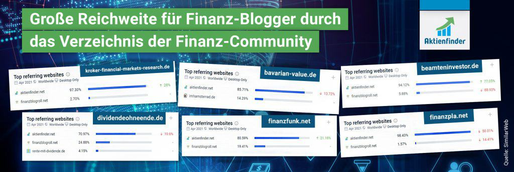Unser Verzeichnis ist die Traffic-Quelle Nr. 1 für die Finanz-Community