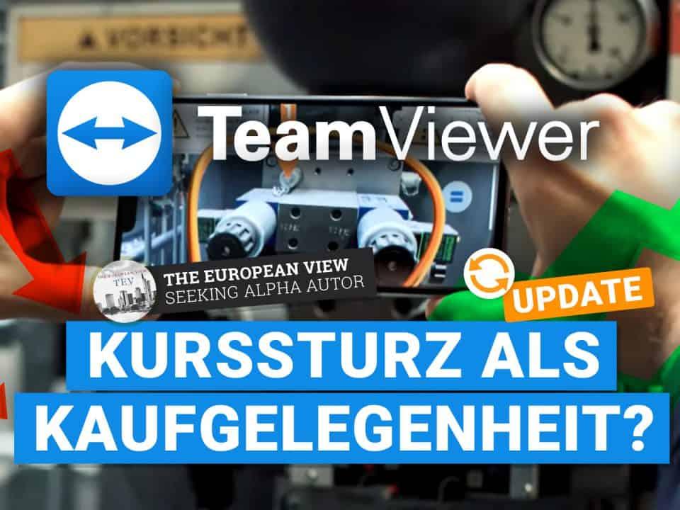 TeamViewer Aktie -Kurssturz als Kaufgelegenheit